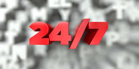 247 -  Red text on typography background - 3D rendered royalty free stock image. This image can be used for an online website banner ad or a print postcard. Stock Photo