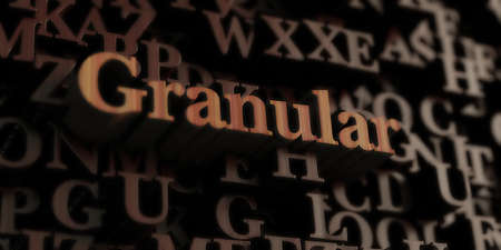 Granular - Wooden 3D rendered lettersmessage.  Can be used for an online banner ad or a print postcard. Stok Fotoğraf
