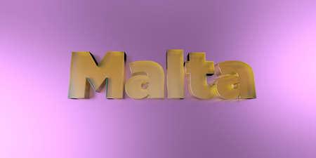 몰타 - 활기찬 배경에 다채로운 유리 텍스트 -3D 렌더링 로열티 무료 재고 이미지. 스톡 콘텐츠