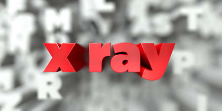 x ray -  Red text on typography background - 3D rendered royalty free stock image. This image can be used for an online website banner ad or a print postcard. Stock Photo