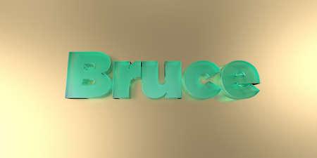 ブルース - 活気に満ちた背景にカラフルなガラスのテキスト - 3 D レンダリングされたロイヤリティ フリー ストック イメージ。 写真素材