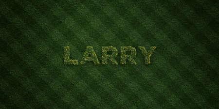 ラリー - 花とタンポポの新鮮な草の手紙 - 3 D レンダリングされたロイヤリティ フリー ストック イメージ。オンライン バナー広告やダイレクト メ