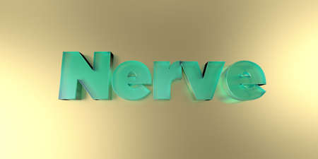 nerve message: Nerve - colorful glass text on vibrant background - 3D rendered royalty free stock image.