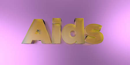 Aids - colorful glass text on vibrant background - 3D rendered royalty free stock image.