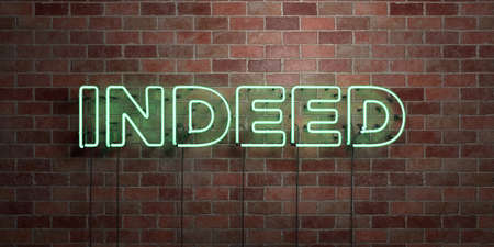 INDEED - 형광등 네온 튜브 brickwork 전면보기 - 3D 렌더링 된 로열티 프리 스톡 사진을. 온라인 배너 광고 및 다이렉트 메일러에 사용할 수 있습니다.