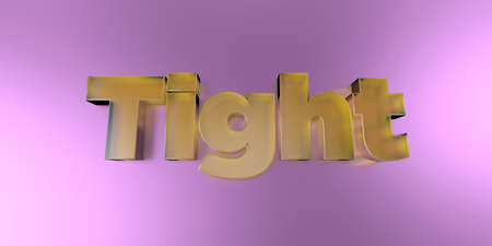 tight body: Tight - colorful glass text on vibrant background - 3D rendered royalty free stock image.