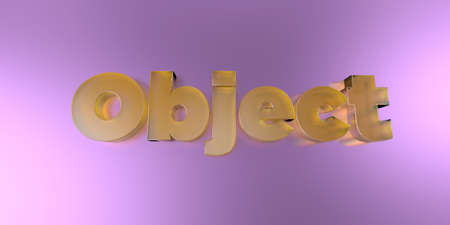 Object - colorful glass text on vibrant background - 3D rendered royalty free stock image.