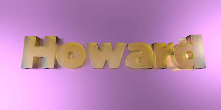 howard: Howard - colorful glass text on vibrant background - 3D rendered royalty free stock image. Stock Photo