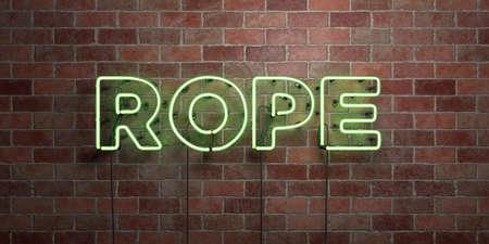 ROPE - 형광등 네온 튜브 brickwork 전면보기 - 3D 렌더링 된 로열티 프리 스톡 사진을. 온라인 배너 광고 및 다이렉트 메일러에 사용할 수 있습니다.