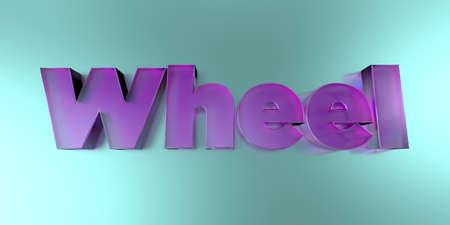 바퀴 - 활기찬 배경 -3d 렌더링에 다채로운 유리 텍스트 로열티 무료 재고 이미지를 렌더링합니다. 스톡 콘텐츠 - 73126307