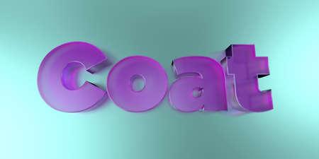 코트 - 활기찬 배경 -3d 렌더링에 다채로운 유리 텍스트 로열티 무료 재고 이미지를 렌더링합니다. 스톡 콘텐츠 - 73126308