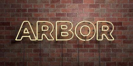 아브레유 - 형광등 네온 튜브 brickwork 전면보기 - 3D 렌더링 된 로열티 프리 스톡 사진을. 온라인 배너 광고 및 다이렉트 메일러에 사용할 수 있습니다. 스톡 콘텐츠 - 73153526
