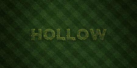 HOLLOW - cartas de hierba fresca con flores y dientes de león - 3D representa la imagen de stock libres de derechos. Se puede usar para anuncios publicitarios en línea y anuncios publicitarios directos. Foto de archivo - 72866734