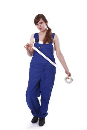 Junge Frau mit Bandrolle Standard-Bild - 17789524