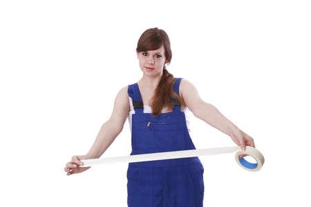 Junge Frau mit Bandrolle Standard-Bild - 17789529