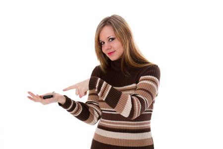 Junge Frau mit Autoschlüssel Standard-Bild - 30648106