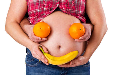 Fruits and belly button photo