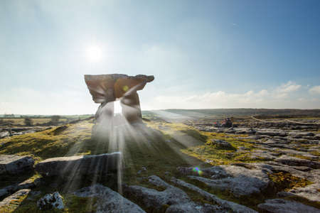 Famous ancient dolmen in the West of Ireland