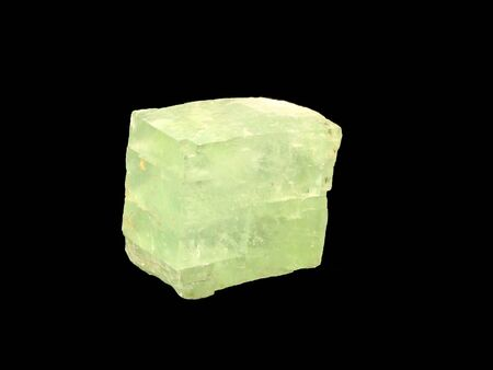 calcite: Greenish calcite crystal