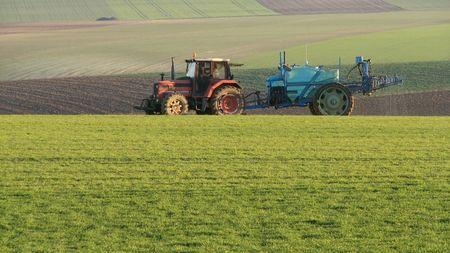 Crop Protection:spraying herbicides photo