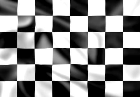 chequer: Rippled silk effect chequered race flag