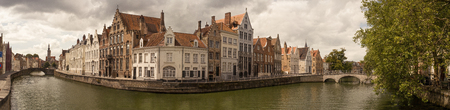 bruges: Bruges panorama Stock Photo