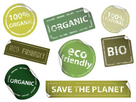 Conjunto de etiquetas de eco-amistoso. Disponible en los formatos jpeg y eps8.