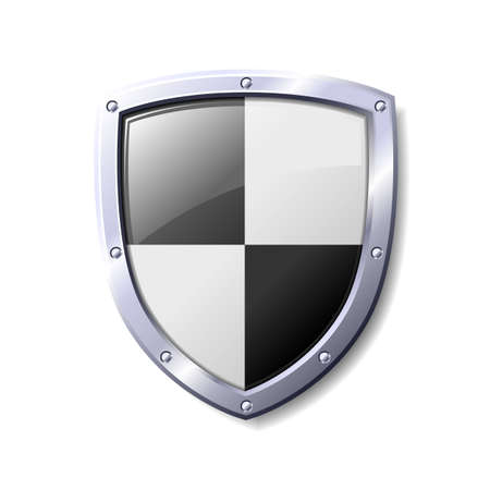 Black and white shield. Available in jpeg and eps8 formats. Vector