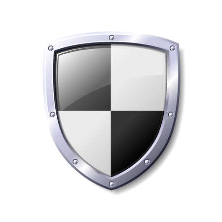Negro y el escudo blanco. Disponible en los formatos JPEG y EPS8. Vectores