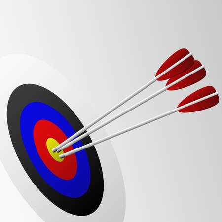 Illustration of arrows in a target. Available in both jpeg and eps8 format. Ilustração