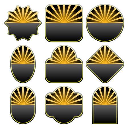 Conjunto de dise�os de insignias de 9. Disponible en los formatos jpeg y eps8. Vectores