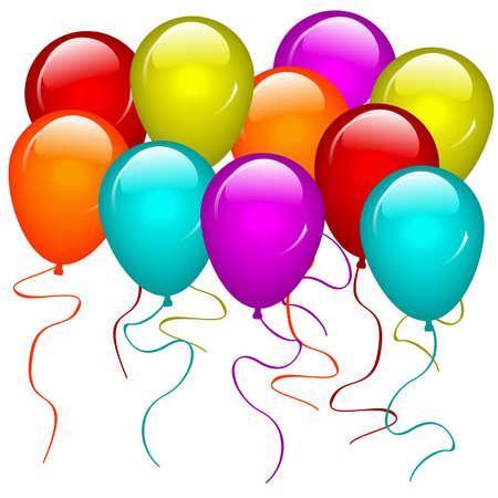 Ilustraci�n de globos. Disponible en formato jpeg y eps8.