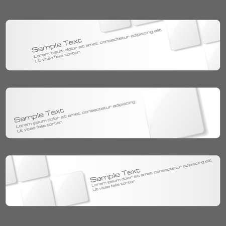 Conjunto de banners abstractas disponibles en formato jpeg y eps8.
