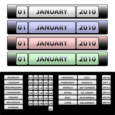 onwards: Calendar for 2010 onwards. Available in jpeg and eps8 formats.