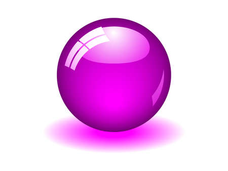 Illustration of a purple ball. Available in jpeg and eps8 formats. Illustration