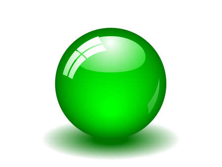 Illustration of a glossy green ball. Available in both jpeg and eps8 formats. Illustration
