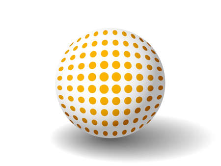 Illustration of an orange spotted ball available in both jpeg and eps8 formats.