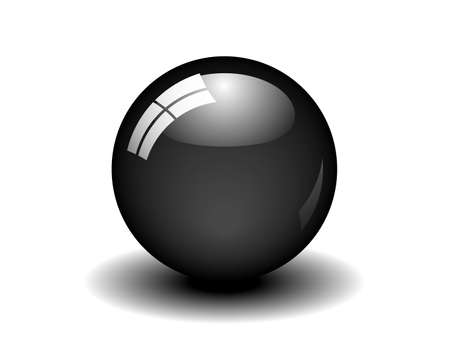 Illustration of a black ball. Available in jpeg and eps8 formats Vector