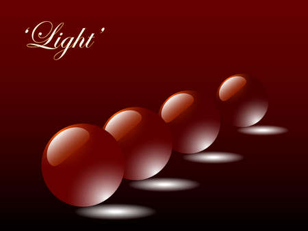 Illustrration showing light reflecting through red balls. Available in jpeg and eps8 formats.