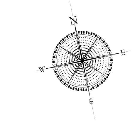 Old compass rose. Available in both jpeg and eps8 format.