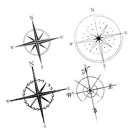 Set of compass roses available in both jpeg and eps8 formats. Vector