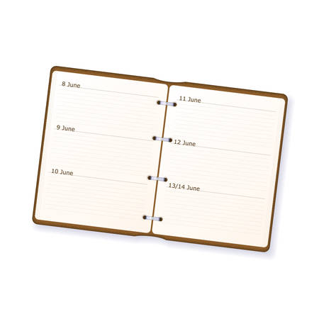 Open diary available in both jpeg and eps8 formats.