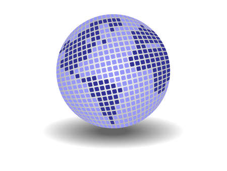 Globe made up from small squares. Available in jpeg and eps8 formats. Vector