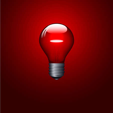 Red lightbulb design. Available in both jpeg and eps8 format. Illustration