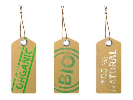 Set de 3 etiquetas natural. Disponible en los formatos JPEG y epss8.