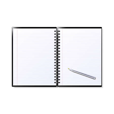 Illustration of a notepad. Available in jpeg and eps8 format.