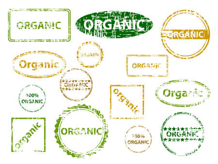 Set of organic stamps. Available in both jpeg and eps8 formats.