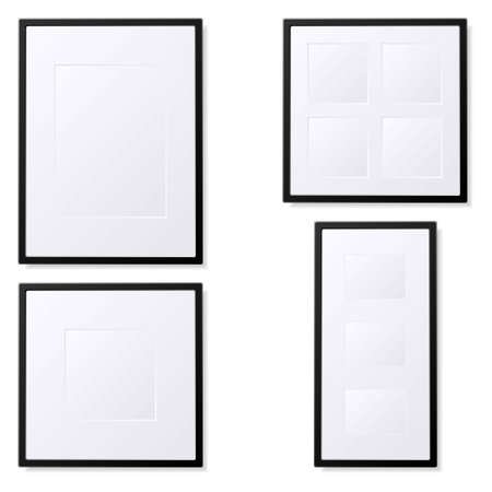 Illustration of empty photo frames. Available in both jpeg and eps8.