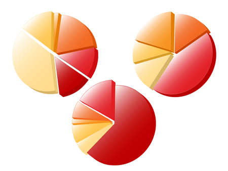 Set of 3 pie charts. Available in jpeg and eps8 format.
