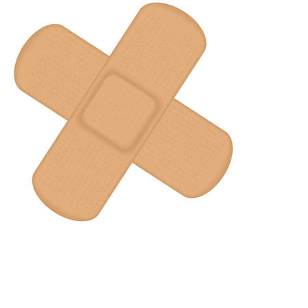 Illustration of 2 plasters in a cross. Available in both jpeg and eps8 format.